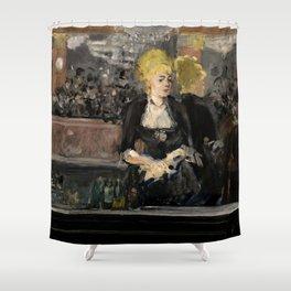 """Édouard Manet """"First version of Le Bar aux Folies Bergère"""" Shower Curtain"""