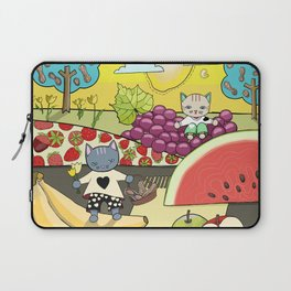 Cats in the Land of Fruits and Nuts Laptop Sleeve