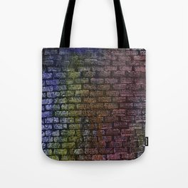 Brick textured wall on canvas ready for graffiti. Tote Bag