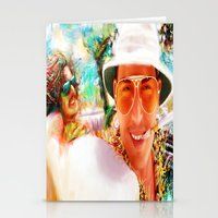 fear and loathing Stationery Cards featuring Fear and Loathing in Las Vegas by ururuty