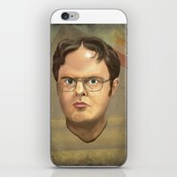 dwight schrute iPhone & iPod Skins featuring Dwight by GoodGame