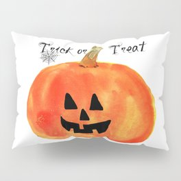 Trick or Treat Jack-O-Lantern, Halloween Pumpkin Pillow Sham