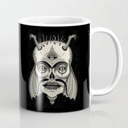 Three-Eyed Skull with Unibrow Coffee Mug