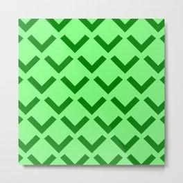 Geometry No. 3 -- Lime Metal Print