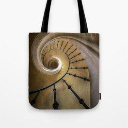 Golden spiral staircase Tote Bag