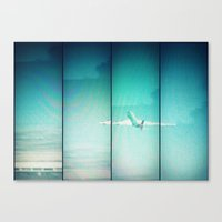 airplane Canvas Prints featuring Airplane by Joan Horne
