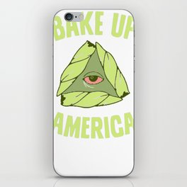 BAKE UP AMERICA T-SHIRT iPhone Skin