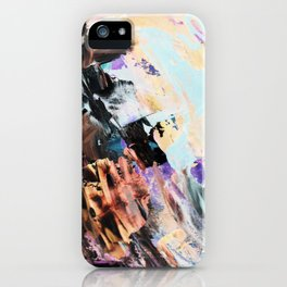 Bright multi-colored painting, contemporary art.  acrylic paint, abstract texture hand drawn gradien iPhone Case