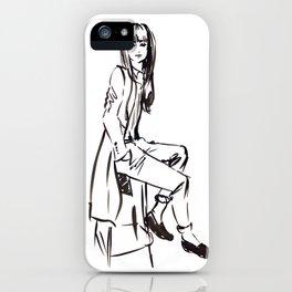 'Coat' Fashion Illustration iPhone Case