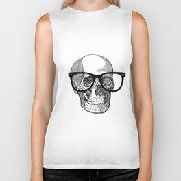 I die hipster - skull Biker Tank