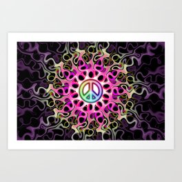Gnarly Peace Waves Art Print