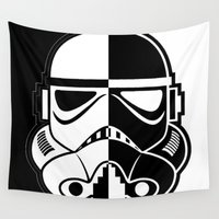 stormtrooper Wall Tapestries featuring Stormtrooper by Rothko