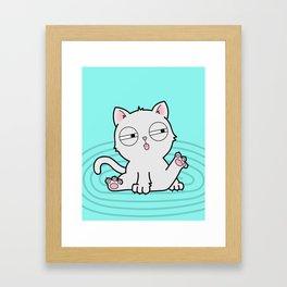 Kitty Bath Time Framed Art Print