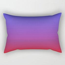Blue Fire Gradient Rectangular Pillow