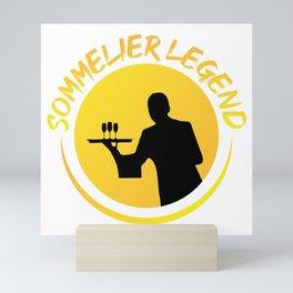 Sommelier Legend Gift T-Shirt Mini Art Print