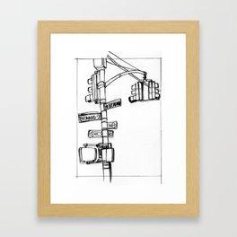 W. Broadway and Leonard, NYC Framed Art Print