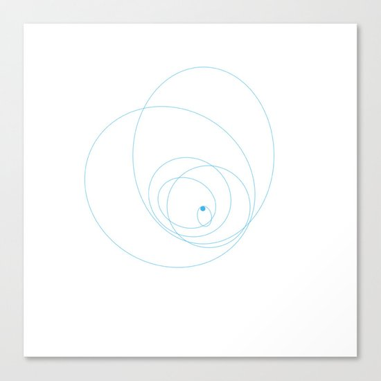 #152 Moons of Neptune – Geometry Daily Canvas Print