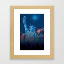 Independence Liberty Framed Art Print