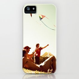 Kiteflying and Relaxing iPhone Case