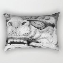 Foo Dog - black and white Rectangular Pillow