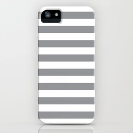 Horizontal Grey Stripes iPhone Case