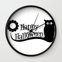 Happy Holloween Owl Wall Clock