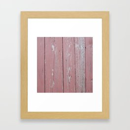 red old rustic wood wall Framed Art Print
