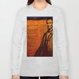 Abraham Lincoln and the Gettysburg Address Long Sleeve T-shirt
