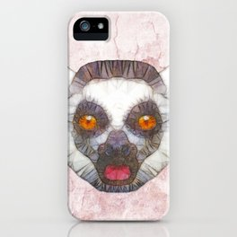 abstract lemur iPhone Case