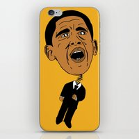obama iPhone & iPod Skins featuring Obama by Gnarleston