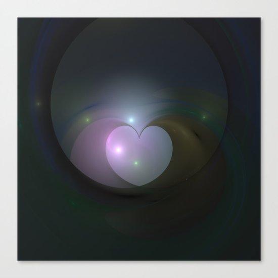 Please Rescue My Heart Fractal Canvas Print