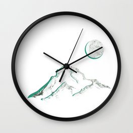 Marble Mountain and Moon Wall Clock