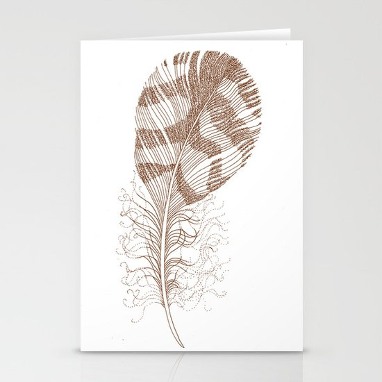 The Solitary Feather Stationery Cards