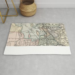 Vintage Map of Salt Lake City (1891) Rug