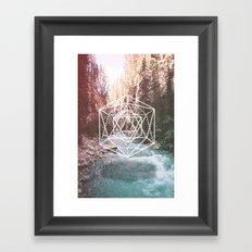 River Triangulation Framed Art Print