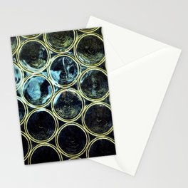 Yellow Circles Stationery Cards