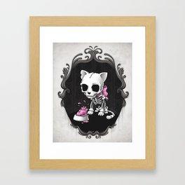 Bone Kitty Framed Art Print