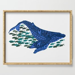 right whale Serving Tray