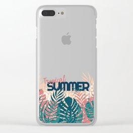 Tropical Summer #society6 #decor #buyart Clear iPhone Case