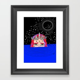 new moon in virgo Framed Art Print
