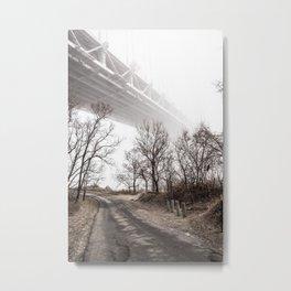 Verrazano Bridge: Into the Fog Metal Print