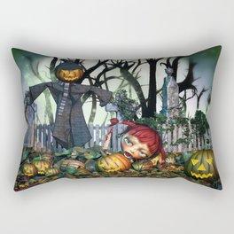 Zombie Pumpkin Chomper Rectangular Pillow