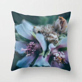 Melancholic flowers Throw Pillow