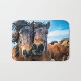 Icelandic Horses Bath Mat