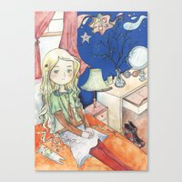luna lovegood Canvas Prints featuring Luna Lovegood by malipi