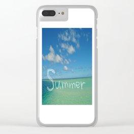 Summer Sandbar Sea Clear iPhone Case