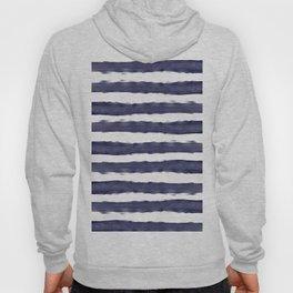 Blue- White- Stripe - Stripes - Marine - Maritime - Navy - Sea - Beach - Summer - Sailor 1 Hoody