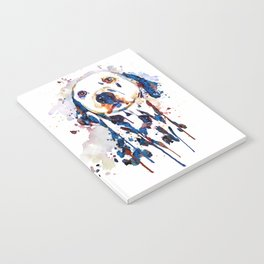 Dalmatian Head Watercolor Portrait Notebook
