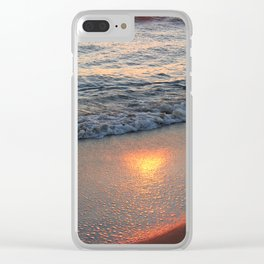 Burning Reflection Clear iPhone Case