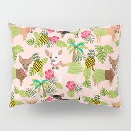 Chihuahua hawaii hula tropical island pineapple dog breed chihuahuas pet pattern Pillow Sham